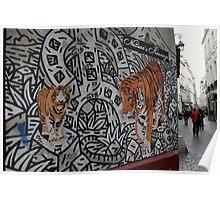 Paris, rue des Rosiers. Poster
