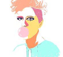 Gum Girl by crislatorre