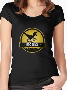 Velociraptor Squad: Echo Team Women's Fitted Scoop T-Shirt