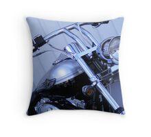 Silver Centenary Harley Throw Pillow