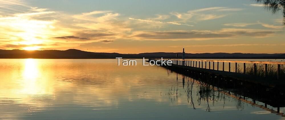 Sunset at Long Jetty by Tam  Locke
