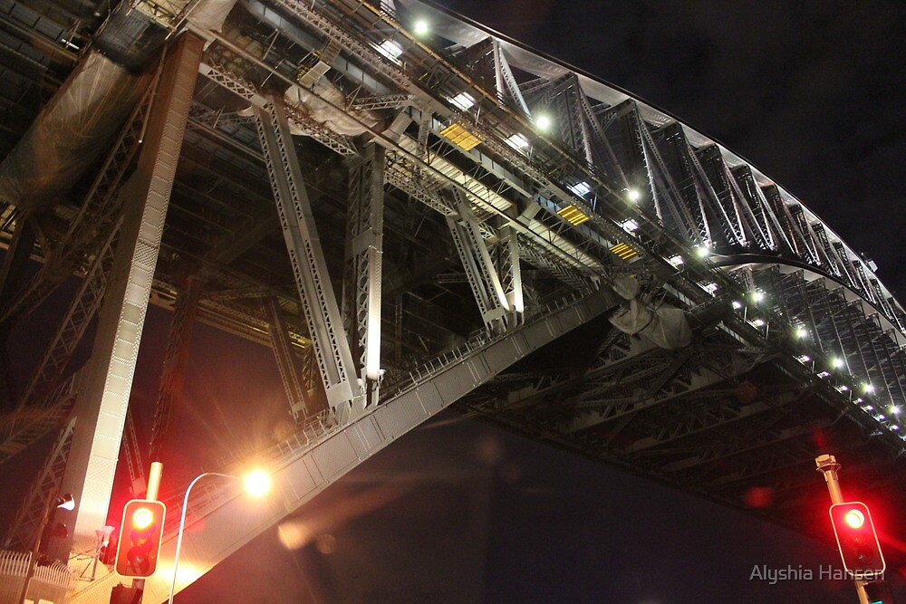 Sydney Harbour Bridge at Night by Alyshia Hansen