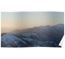 Winter Sunset on Mount Hotham Poster