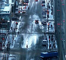 Montreal - Red lights. by Jean-Luc Rollier