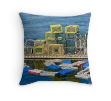 Pots of Lobsters Throw Pillow