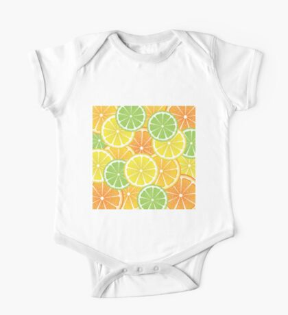 Various Citrus Slices 3 One Piece - Short Sleeve