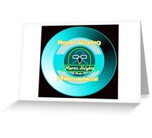Neon Waxing Philosophical Logo Greeting Card