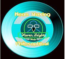 Neon Waxing Philosophical Logo Photographic Print