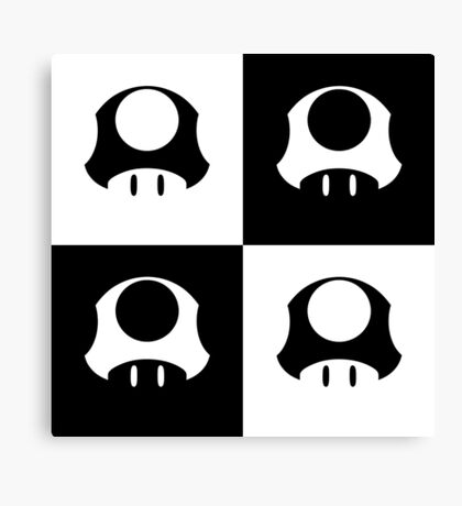 Mushroom in Black and White Canvas Print