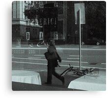 Cafe Reflection Canvas Print