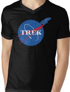 NASA Trek Mens V-Neck T-Shirt