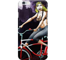 Vampire on a Bicycle iPhone Case/Skin