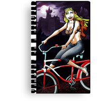 Vampire on a Bicycle Canvas Print