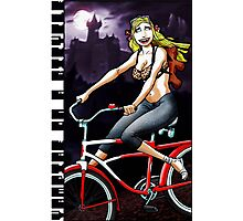Vampire on a Bicycle Photographic Print