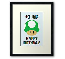 Happy Birthday - one UP Framed Print