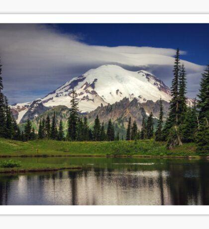 Mt Rainier in Washington Sticker