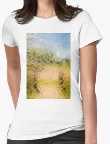 Pathway Through Frosted Glass Womens Fitted T-Shirt