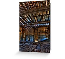 Take a Seat By The Fireplace..... Woogaroo - Abandoned Mental Asylum. Greeting Card