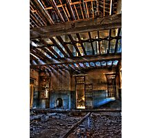 Take a Seat By The Fireplace..... Woogaroo - Abandoned Mental Asylum. Photographic Print