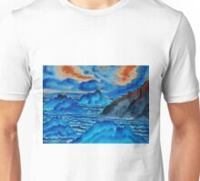 Blue Island Volcanoes Unisex T-Shirt