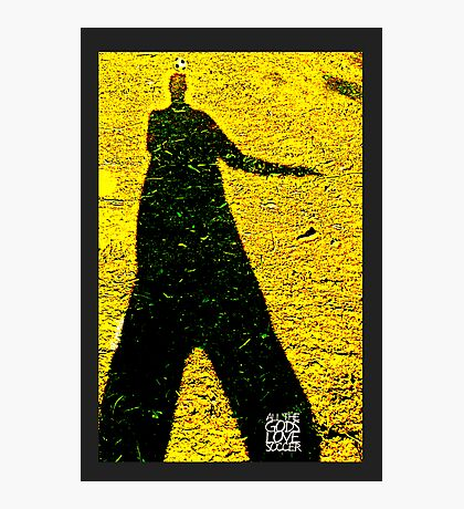 All The Gods Love Soccer (yellow) Photographic Print