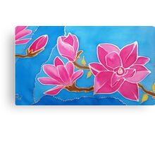 MAGNOLIA. Nature. Flower. Original SILK painting Canvas Print