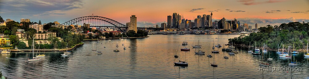 Let The Sun Go Down On Me (35 Exposure HDR Pano)- Berry's Bay, Sydney - The HDR Experience by Philip Johnson