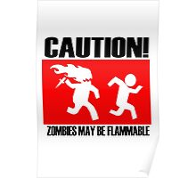 Caution! Zombies may be flammable Poster