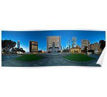 Statue Square, Hong Kong - 360 Panoramic Poster