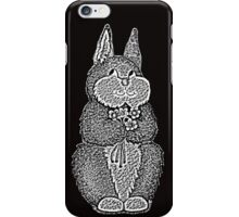 cute brown Bunny with pretty flowers illustration iPhone Case/Skin