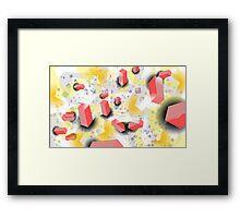 Jello Confetti Framed Print