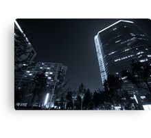 b&w nights in beijing Canvas Print