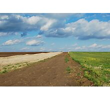 Of Wheat and Sky in Kansas Photographic Print