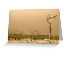 Kansas Windmill in Sepia Greeting Card