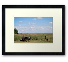 Abandoned Trailer in Kansas Country Field Framed Print