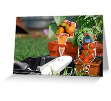 Vegetable Planting Time Greeting Card