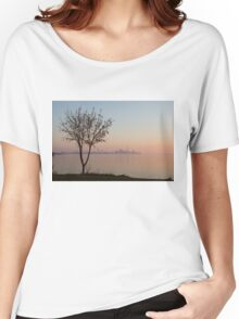 Soft, Pink Morning on the Lake Shore Women's Relaxed Fit T-Shirt