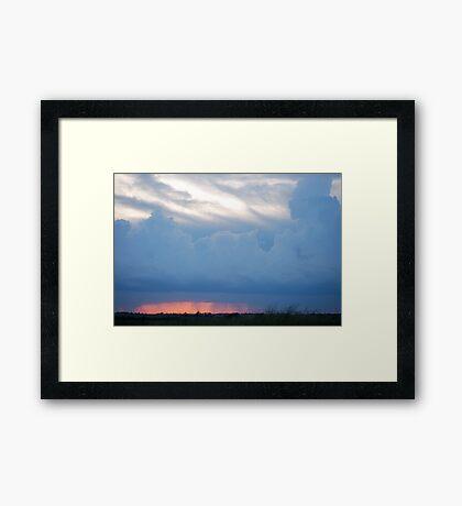 Stormy Kansas Sunset Sky  Framed Print