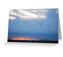 Stormy Kansas Sunset Sky  Greeting Card