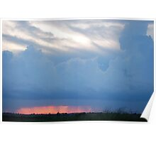 Stormy Kansas Sunset Sky  Poster