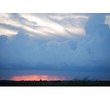 Stormy Kansas Sunset Sky  Photographic Print