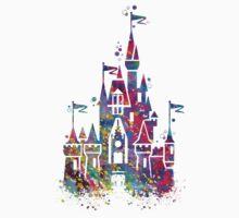 Princess Castle Watercolor Kids Tee