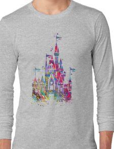 Princess Castle Watercolor Long Sleeve T-Shirt
