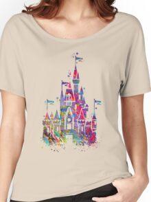 Princess Castle Watercolor Women's Relaxed Fit T-Shirt