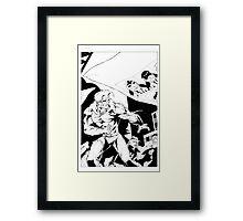 CADRE #7 splash page. Framed Print