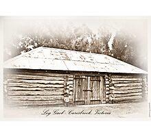 Log Gaol - Carisbrook Photographic Print