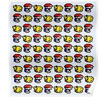 Pikachu follows Ash Poster
