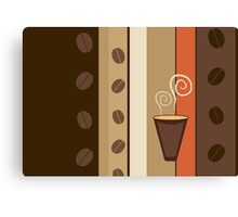 Coffee Cup Time Modern Illustration Canvas Print