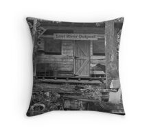 Lost River B/W Throw Pillow