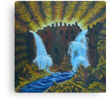 Oil Painting - Underground City. 1993 Canvas Print